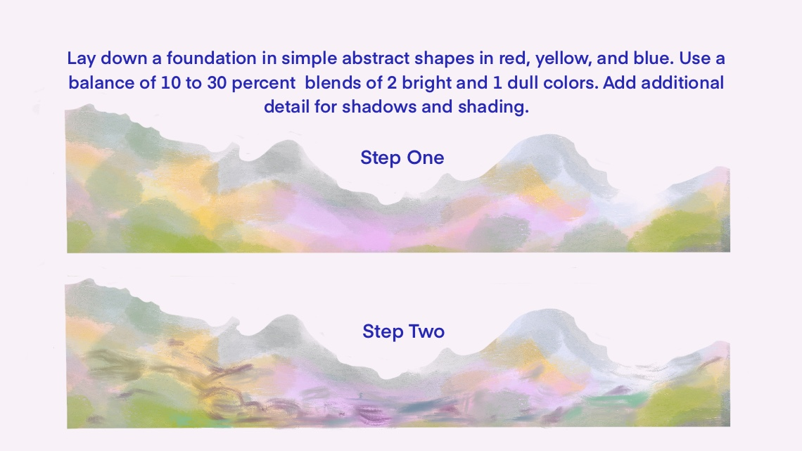 The first two layers when creating the foreground foundation